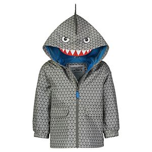 Toddler Boy Carter's Shark Hooded Lightweight Rain Jacket