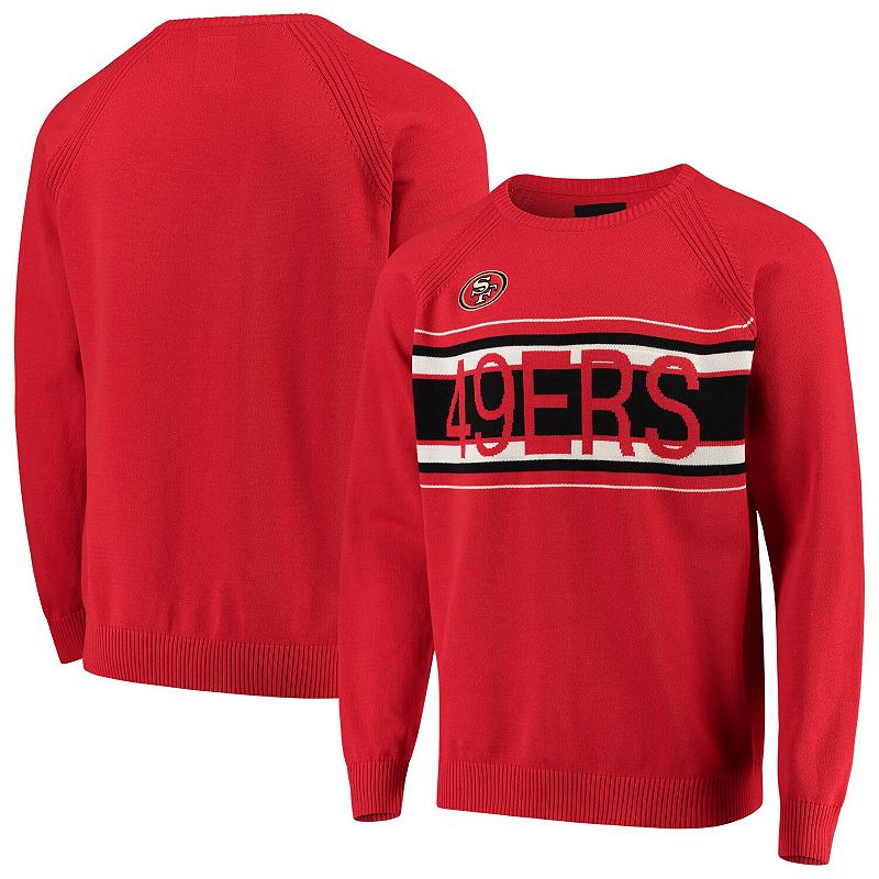 Men's G-III Sports by Carl Banks Scarlet San Francisco 49ers Team Sweater, Size: Medium, Red