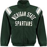 Men's G-III Sports by Carl Banks Green Michigan State Spartans Centerfield Track Jacket
