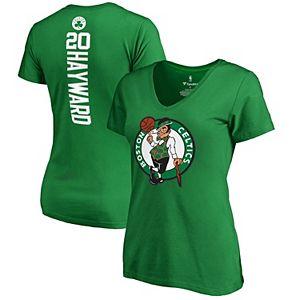 Women's Fanatics Branded Gordon Hayward Kelly Green Boston Celtics Backer Name & Number V-Neck T-Shirt