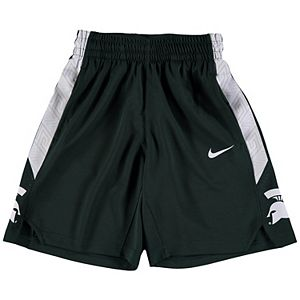 Youth Nike Green Michigan State Spartans Holiday Replica Basketball Shorts