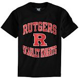 Youth Champion Black Rutgers Scarlet Knights Circling Team Jersey T-Shirt