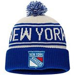 Men's Fanatics Branded White New York Rangers True Classic Z Route Cuffed Knit Hat with Pom