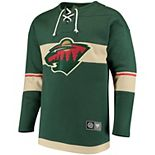 Men's Fanatics Branded Green Minnesota Wild Breakaway Lace Up Pullover Sweatshirt