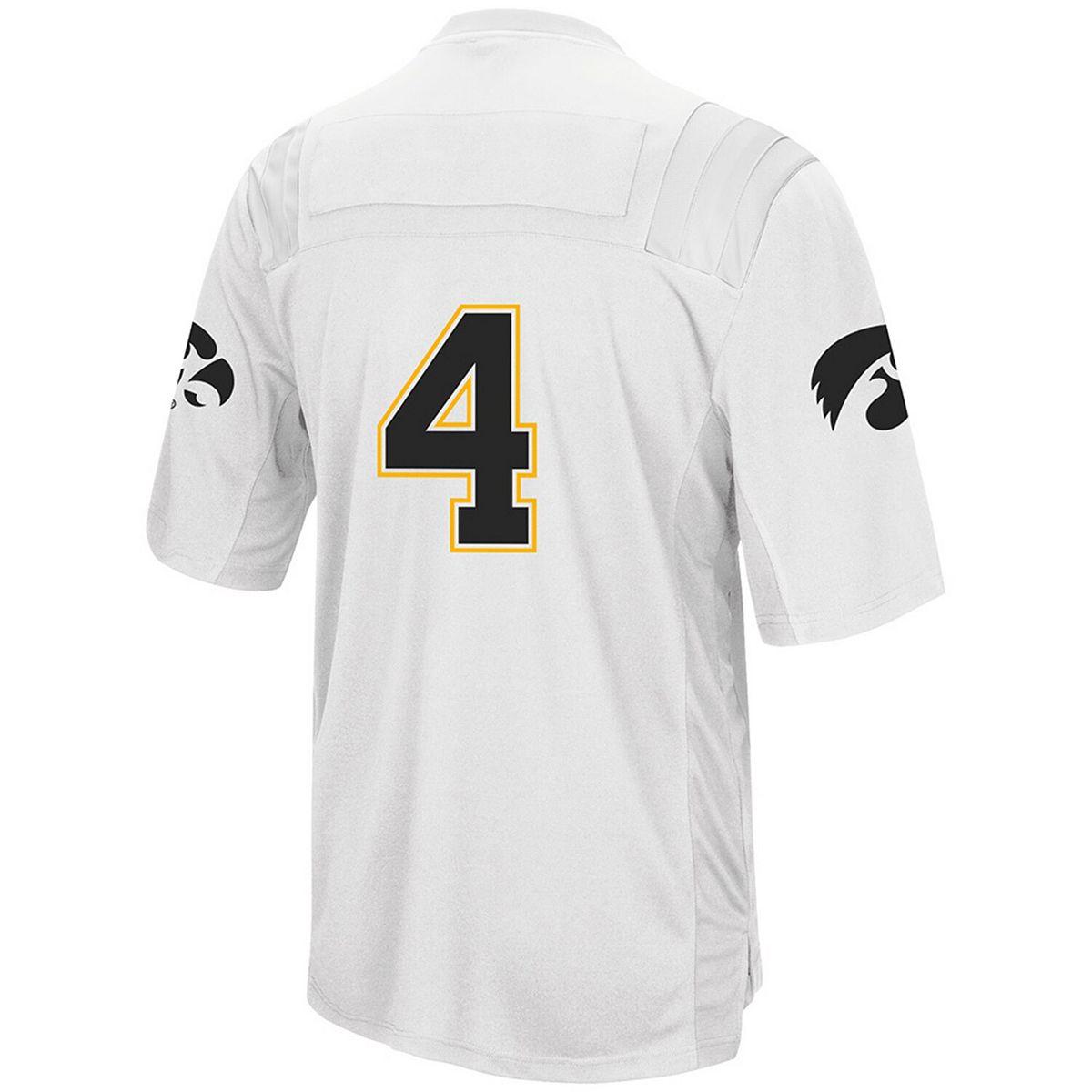 Men's Colosseum White Iowa Hawkeyes Football Jersey foMzP