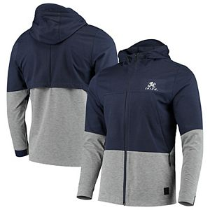 Men's Under Armour Navy Notre Dame Fighting Irish Full-Zip Performance Swacket Jacket