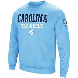Men's Colosseum Navy North Carolina Tar Heels Big & Tall Arch & Logo Sweatshirt