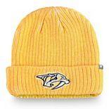 Men's Fanatics Branded Gold Nashville Predators Authentic Pro Rinkside Cuffed Knit Hat