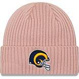 Women's New Era Light Pink Los Angeles Rams Team Glisten Rouge Cuffed Knit Hat