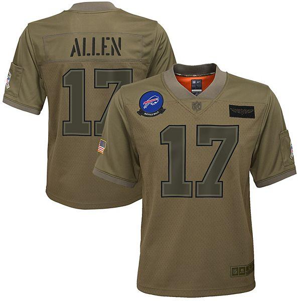 Youth Nike Josh Allen Camo Buffalo Bills 2019 Salute to Service Game Jersey