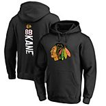 Men's Fanatics Branded Patrick Kane Black Chicago Blackhawks Backer Name & Number Pullover Hoodie