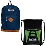 The Northwest Company Seattle Seahawks Double Down Backpack Set