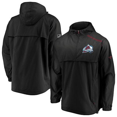 Men's Fanatics Branded Black Colorado Avalanche Authentic Pro Rinkside Anorak 1/4-Zip Jacket