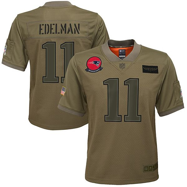 Youth Nike Julian Edelman Camo New England Patriots 2019 Salute to Service Game Jersey