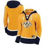 Women's Fanatics Branded Gold Nashville Predators Franchise Pullover Hoodie