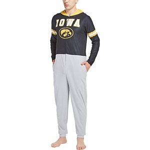 Men's Concepts Sport Black Iowa Hawkeyes Warm Up Union Bodysuit