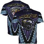 Men's Majestic Purple/ Baltimore Ravens V Tie-Dye T-Shirt