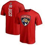 Men's Fanatics Branded Jaromir Jagr Red Florida Panthers Backer Name & Number T-Shirt