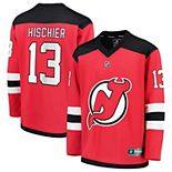 Youth Fanatics Branded Nico Hischier Red New Jersey Devils Replica Player Jersey