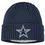 Youth New Era Navy Dallas Cowboys Core Classic Cuffed Knit Hat