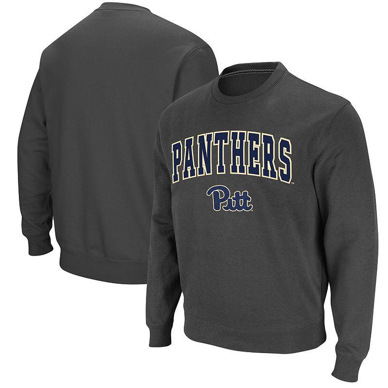 Men's Colosseum Charcoal Pitt Panthers Arch & Logo Sweatshirt, Size: Small, Grey