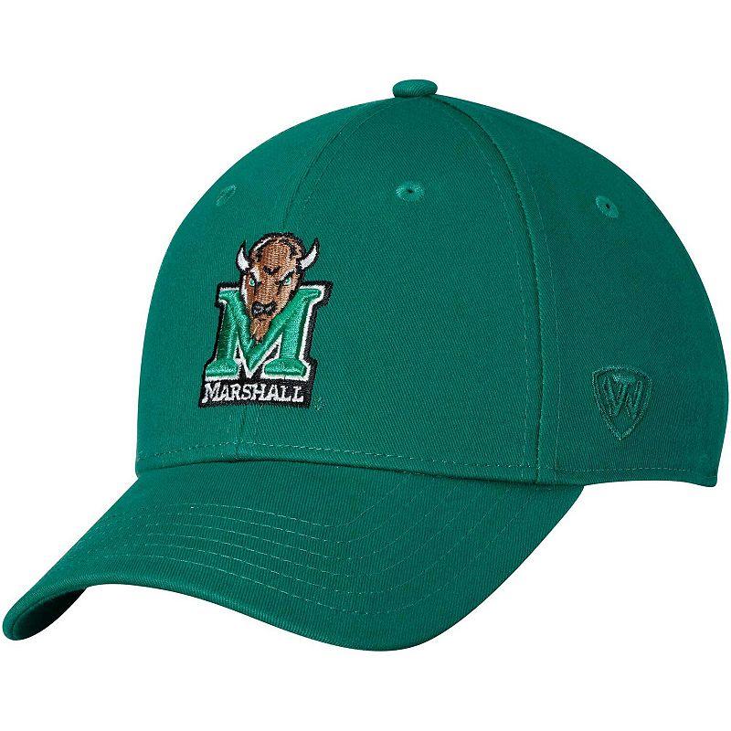 Men's Top of the World Green Marshall Thundering Herd Observer Adjustable Snapback Hat