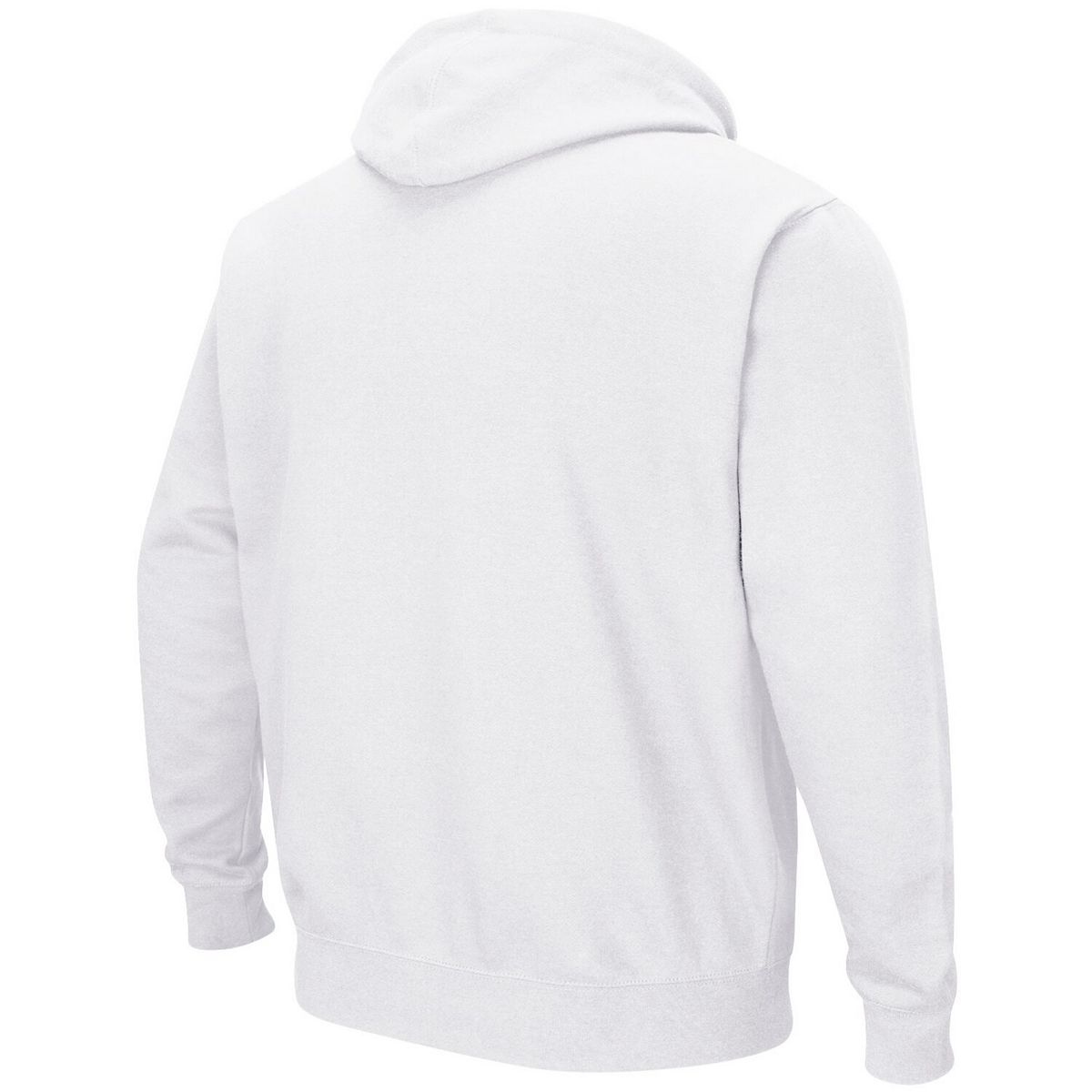 Men's Colosseum White Washington State Cougars Wordmark Arch & Team Logo Full-Zip Hoodie QE2ft