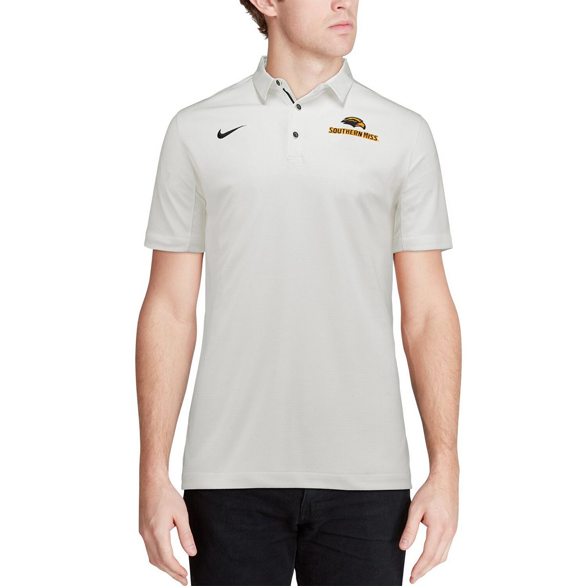 Men's Nike White Southern Miss Golden Eagles 2017 Coaches Sideline Dry Elite Performance Polo y7yVX