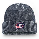 Men's Fanatics Branded Navy Columbus Blue Jackets Authentic Pro Rinkside Cuffed Knit Hat