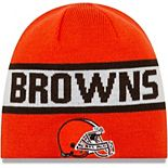 Men's New Era Orange/Brown Cleveland Browns Reverse Knit Beanie
