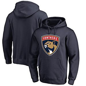 Men's Fanatics Branded Navy Florida Panthers Primary Logo Pullover Hoodie