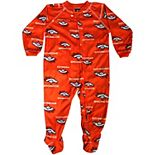 Denver Broncos Newborn Full Zip Raglan Coverall - Orange