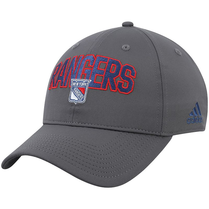 Men's adidas Gray New York Rangers Culture Speed Arch Slouch Adjustable Hat, Grey