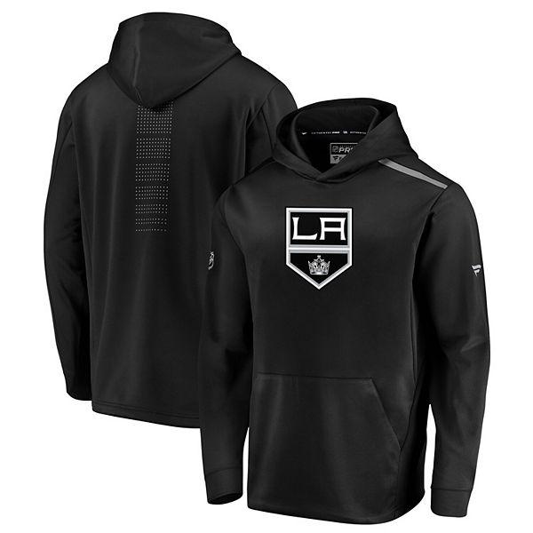 Men's Fanatics Branded Black Los Angeles Kings Authentic Pro Rinkside Pullover Hoodie