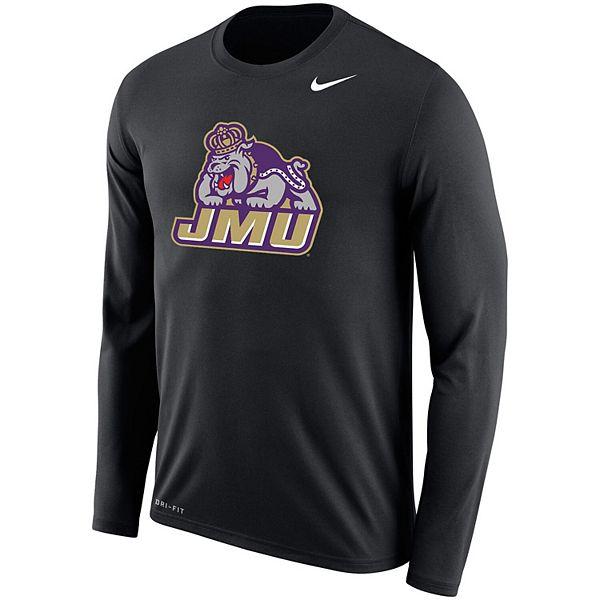 Men's Nike Black James Madison Dukes Legend Long Sleeve Performance T-Shirt