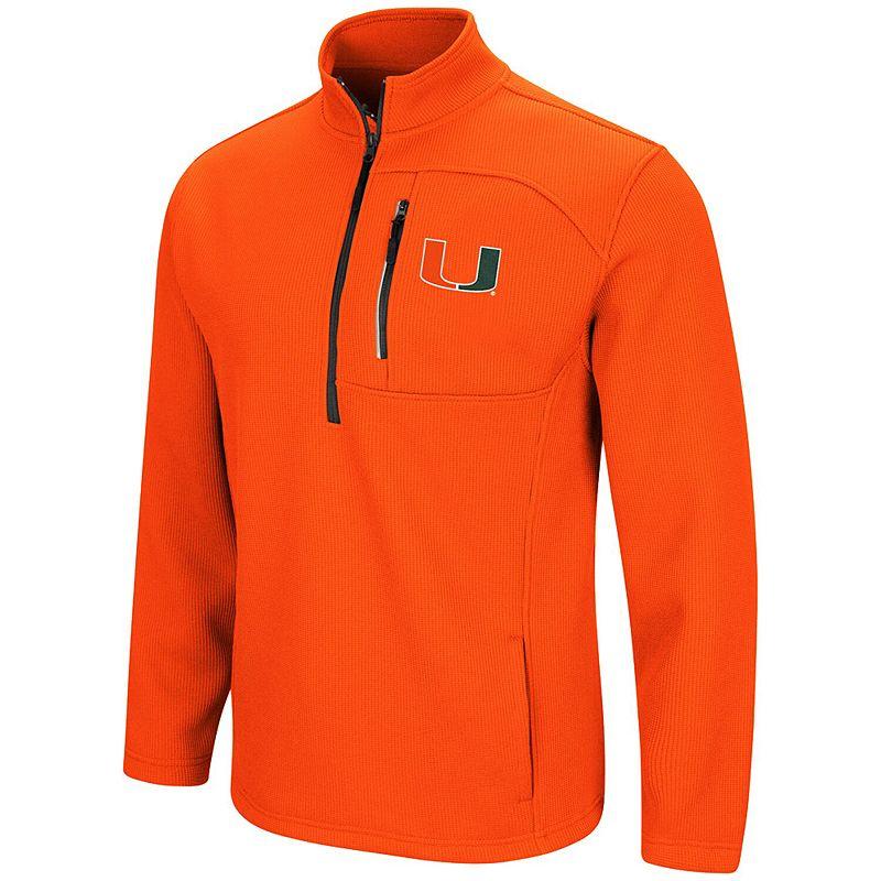 Men's Colosseum Orange Miami Hurricanes Townie Half-Zip Pullover Jacket, Size: XL