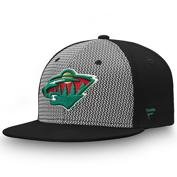 Men's Fanatics Branded Gray/Black Minnesota Wild Versalux Fitted Hat