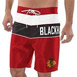 Men's G-III Sports by Carl Banks Red/Black Chicago Blackhawks All-Star Swim Trunks