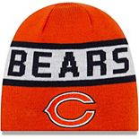 Men's New Era Orange/Navy Chicago Bears Reverse Knit Beanie