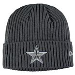 Youth New Era Graphite Dallas Cowboys Core Classic Cuffed Knit Hat