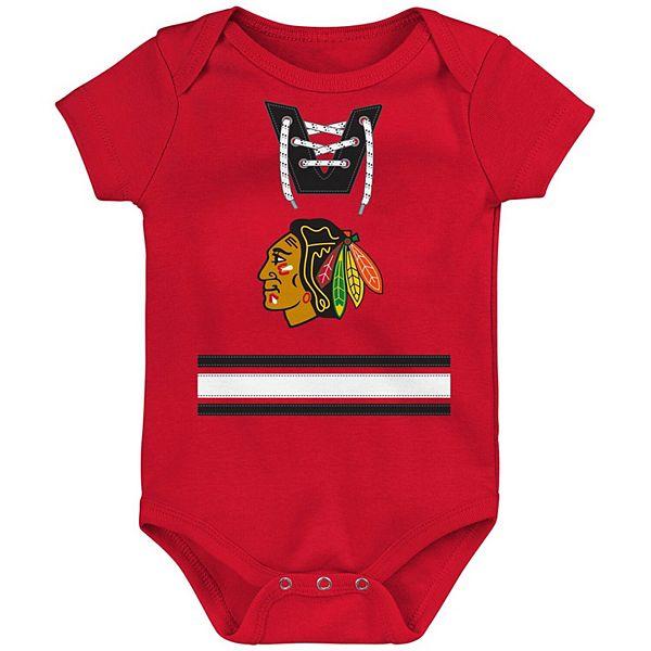 Newborn & Infant Red Chicago Blackhawks Jersey Bodysuit