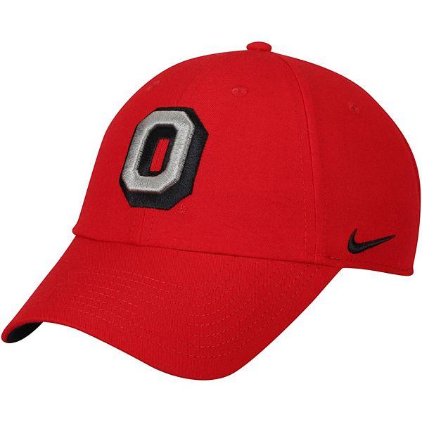 Men's Nike Scarlet Ohio State Buckeyes Vault Heritage 86 Authentic Performance Adjustable Hat