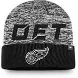 Men's Fanatics Branded Black Detroit Red Wings Authentic Pro Team Clutch Cuffed Knit Hat