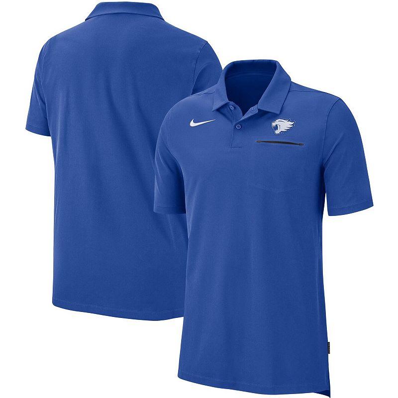 Men's Nike Royal Kentucky Wildcats 2019 Elite Coaches Sideline Performance Polo, Size: Small, Blue