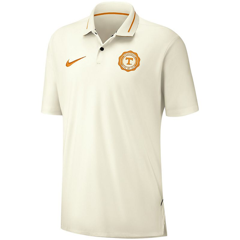 Men's Nike Cream Tennessee Volunteers Rivalry Performance Polo, Size: Small, Beige Over