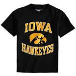 Youth Champion Black Iowa Hawkeyes Circling Team Jersey T-Shirt