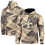 Men's Zubaz Black/Gold New Orleans Saints Static Pullover Hoodie