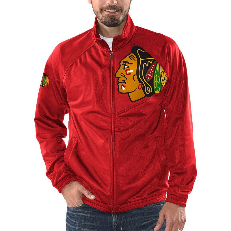 Men's G-III Sports by Carl Banks Red Chicago Blackhawks Synergy Full-Zip Track Jacket, Size: Medium