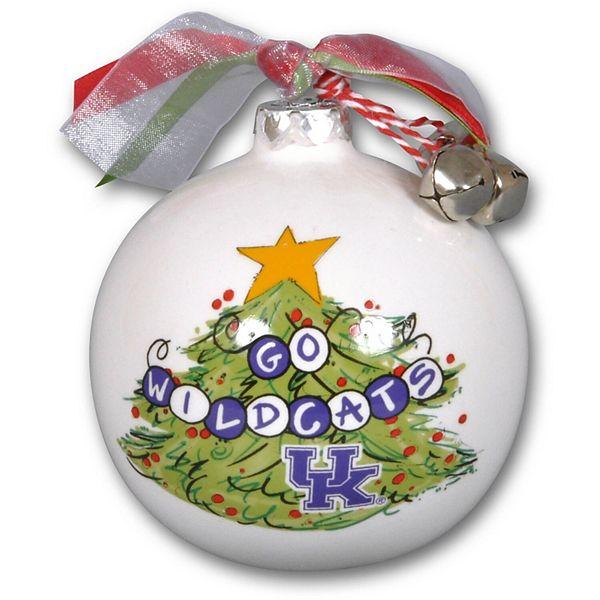 Kentucky Wildcats Tree Painted Ball Ornament