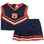 Girls Toddler Navy Auburn Tigers Two-Piece Cheer Set